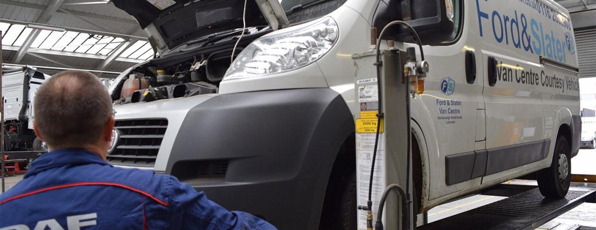 Technician with van