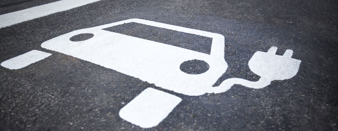 Electric Vehicle Charging Floor Sign