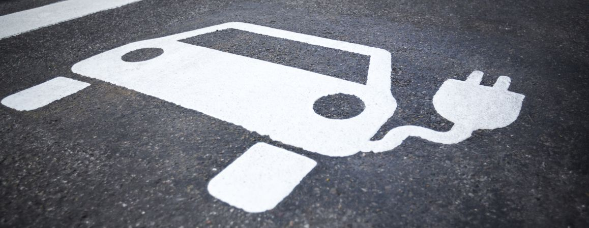 Electric Vehicle Road Marking
