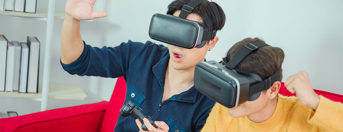 Kids with VR